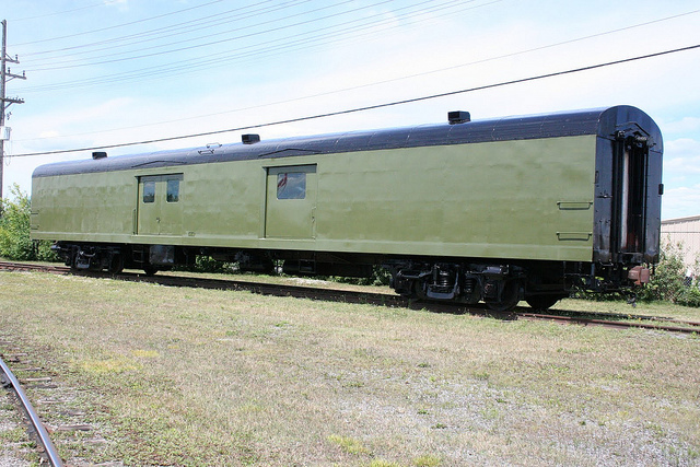 Baggage Car painted without lettering/numbering applied.