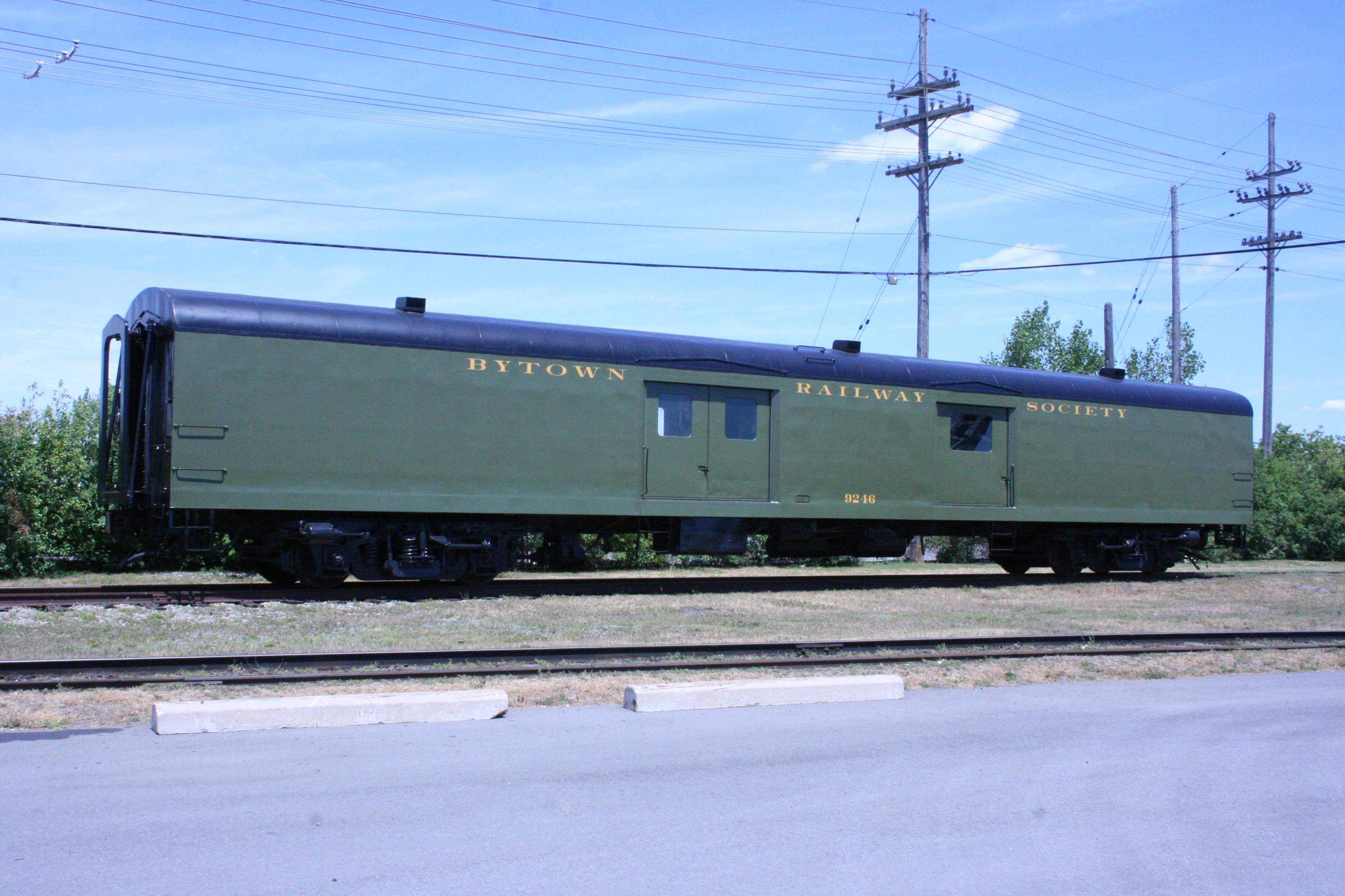 Baggage Car with final lettering applied