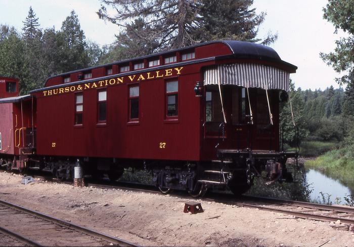 Car 27 after restoration, on TNV&R excursion.
